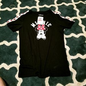 Disney Minnie Mouse Black TSHIRT XSmall Small